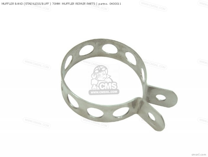 Muffler Band (stainless/buff ) 70mm  Muffler Repair Parts photo
