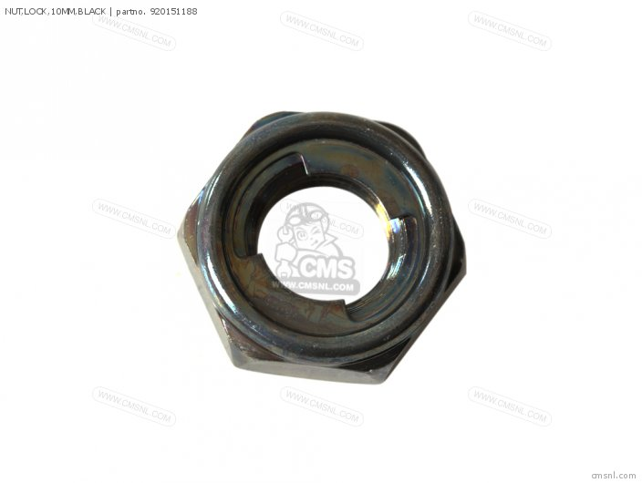 NUT LOCK 10MM BLACK