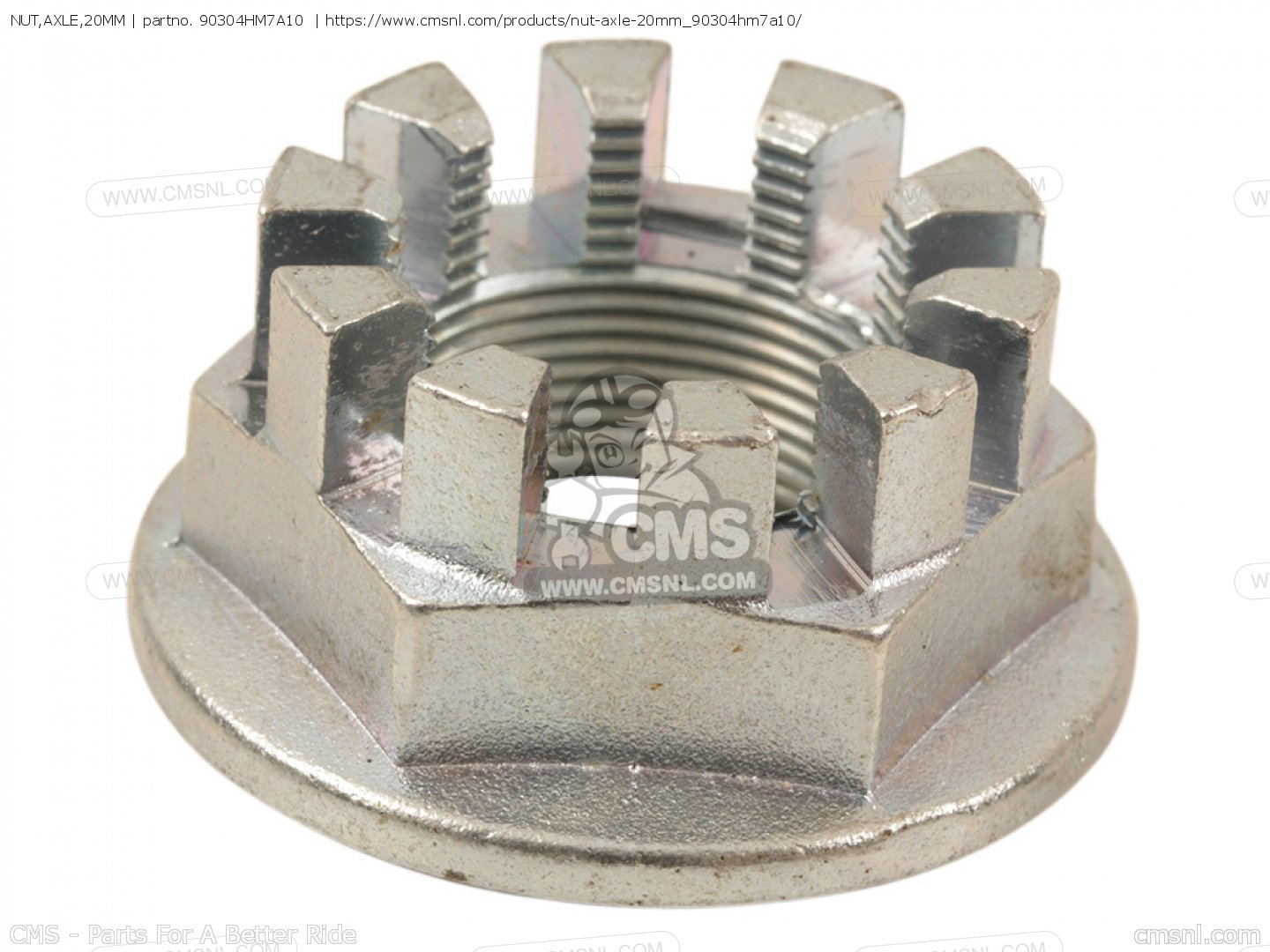 AXLE NUT w//PIN FOR HONDA 90304-HM7-A10