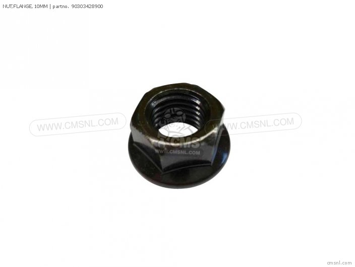 Nut, Flange, 10mm photo