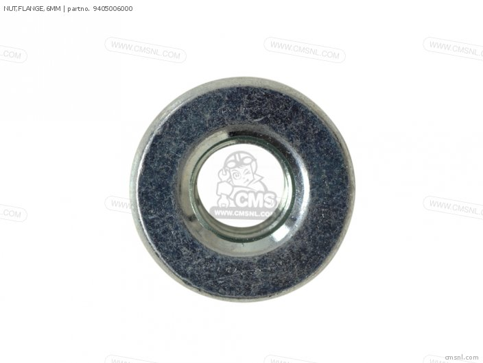 Nut, Flange, 6mm photo