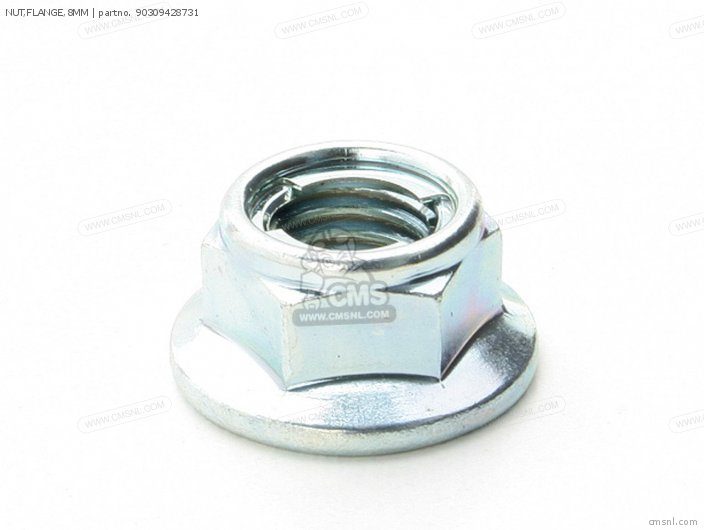 Nut, Flange, 8mm photo