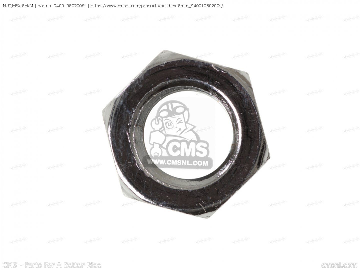 6MM HONDA 94001-06008-0S NUT HEX.