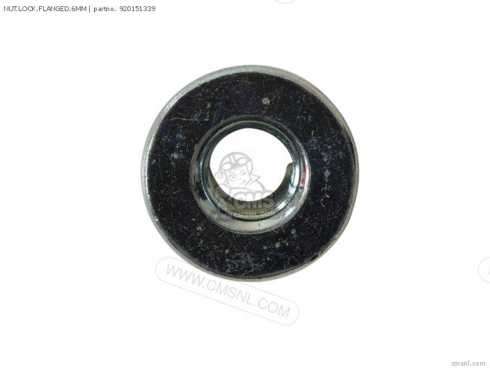 Nut, Lock, Flanged, 6mm photo
