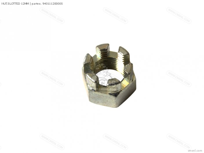 Nut, Slotted 12mm photo