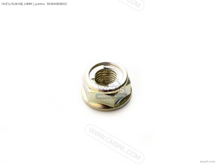 Nut, U, Flange, 10mm photo