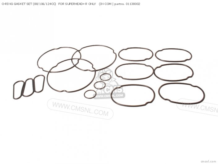 O-RING GASKET SET 88 106 124CC FOR SUPERHEAD+R ONLY IN COMMON