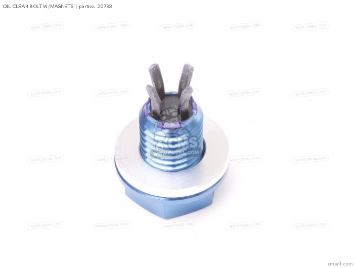 OIL CLEAN BOLT W/MAGNETS  M12 X P1.5 X 12L      UNIV. VFR4/NC30