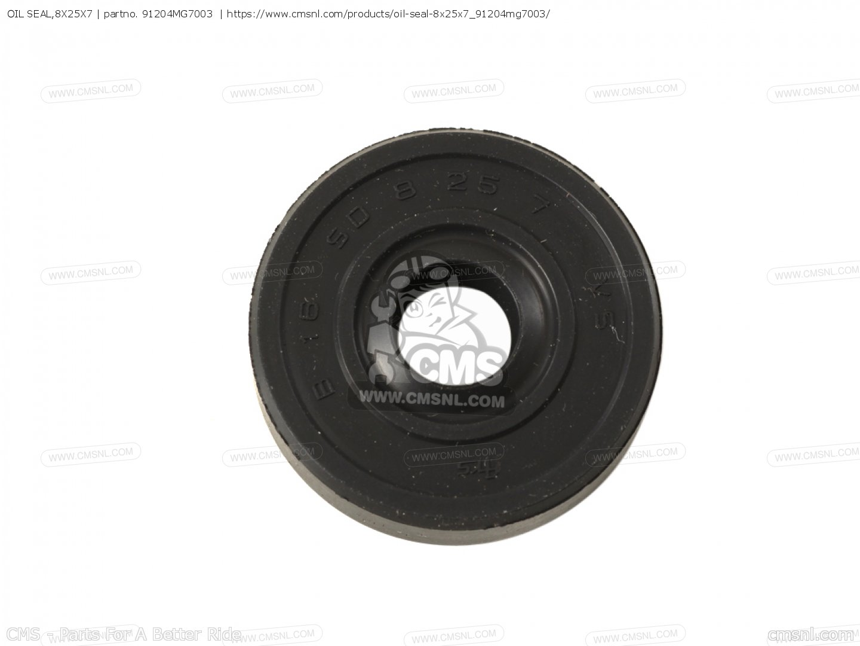 HONDA 91204-MG8-003 OIL SEAL 8X25X7