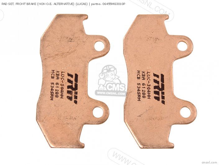 PAD SET, FRONT BRAKE (NON O.E. ALTERNATIVE) (LUCAS)