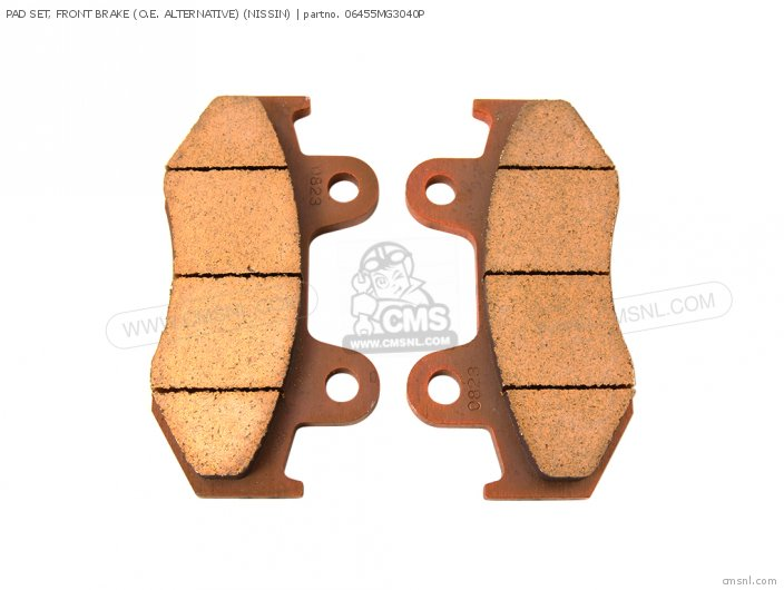PAD SET, FRONT BRAKE (O.E. ALTERNATIVE) (NISSIN)