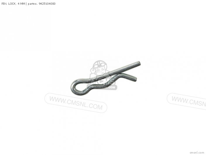 PIN, LOCK, 4 MM