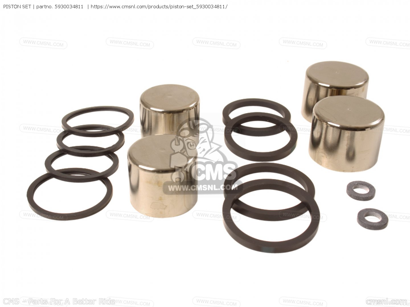 5930034811 Piston Set Suzuki Buy The 59300 34811 At Cmsnl 2009 Gsf1250sa Starter Motor Components And Parts Diagram Photo