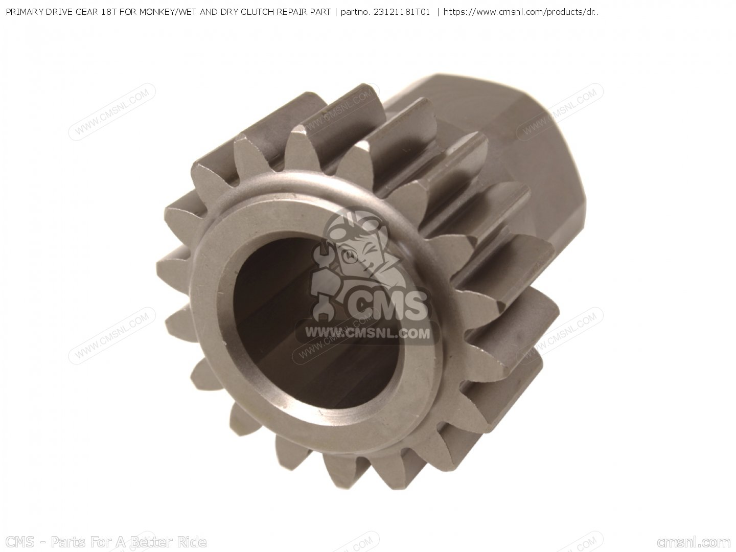 PRIMARY DRIVE GEAR 18T FOR MONKEY/WET AND DRY CLUTCH REPAIR PART