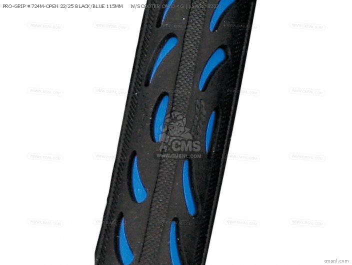 PRO-GRIP #724M-OPEN 22/25 BLACK/BLUE 115MM     W/SCOOTER CARD