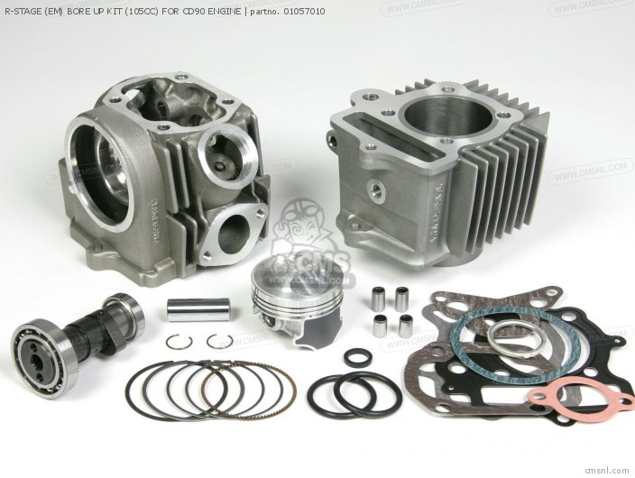 R-STAGE (EM) BORE UP KIT (105CC) FOR CD90 ENGINE