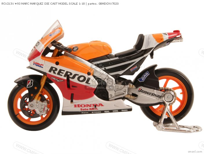 Rcv213v #93 Marc Marquez Die Cast Model Scale 1:18 photo