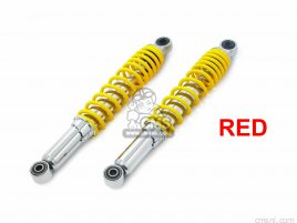 REAR SHOCK ABSORBER (CHROME PLATED/RED )  CUB ,LITTLE CUB