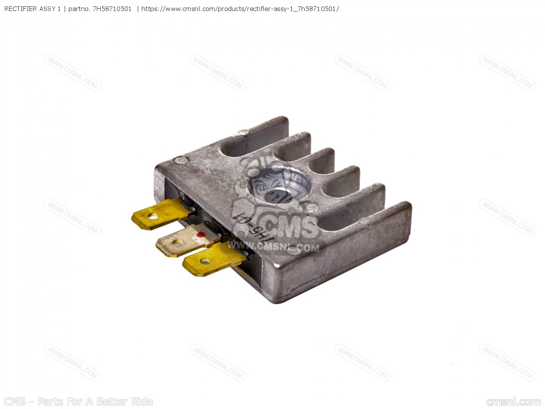 Rectifier assy 1 fits ef600 generator order at cmsnl for Ef600 yamaha generator