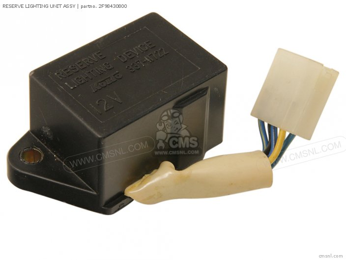 XS850 1981 B USA RESERVE LIGHTING UNIT ASSY