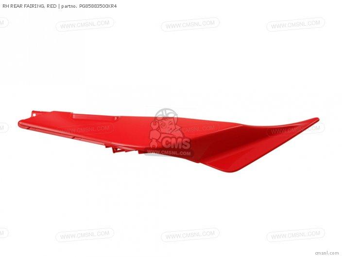 RH REAR FAIRING, RED