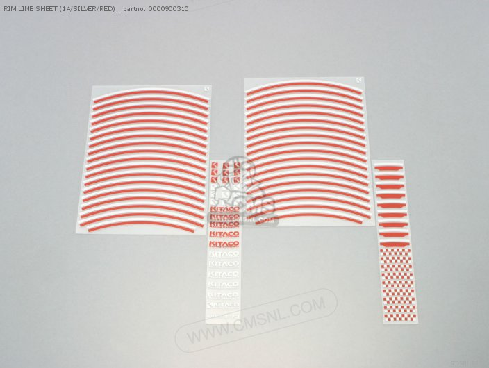 Rim Line Sheet (14/silver/red) photo