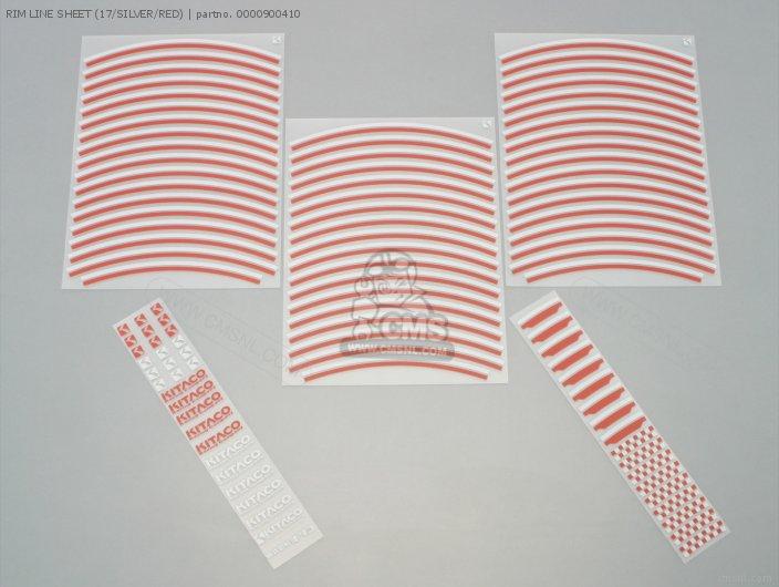 Rim Line Sheet (17/silver/red) photo
