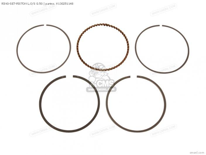 Ring-set-piston L, O/s 0.50 photo
