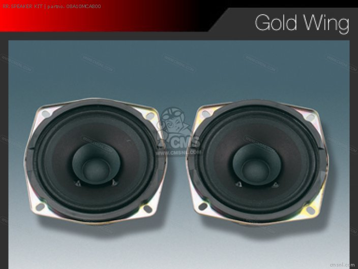 Gl1800a Gold Wing 2001 Australia   Kmh Rr speaker Kit