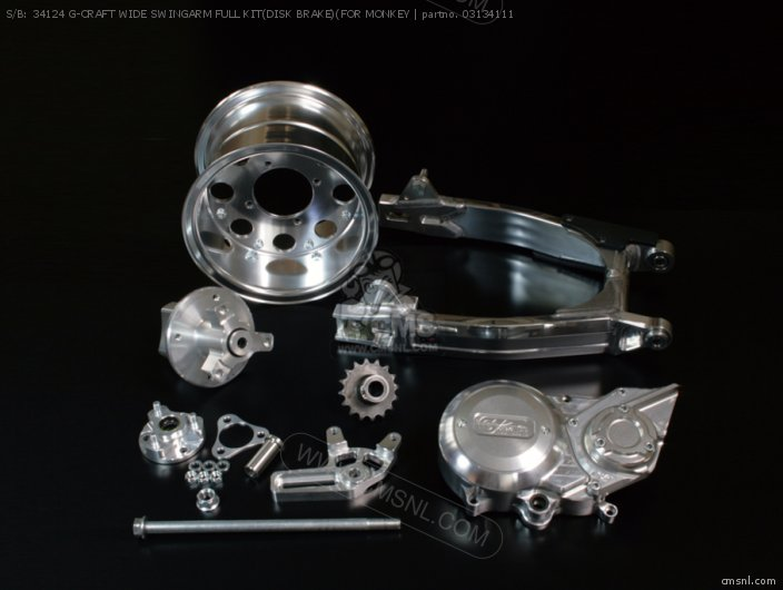 S/B: 34124 G-CRAFT WIDE SWINGARM FULL KIT(DISK BRAKE)(FOR MONKEY