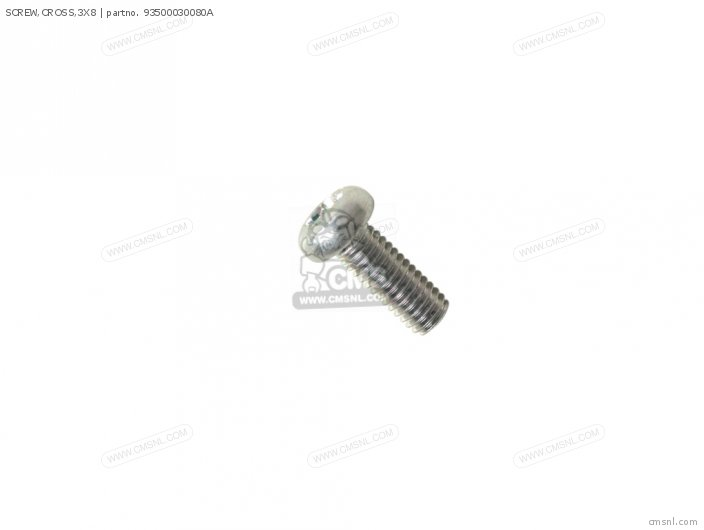 SCREW,CROSS,3X8