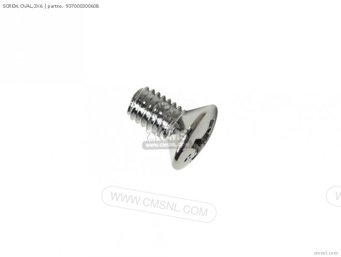 SCREW,OVAL,3X6