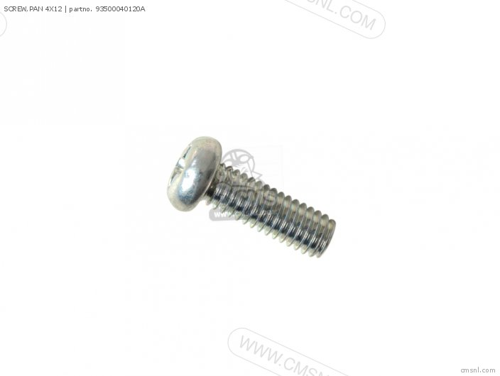 SCREW,PAN 4X12