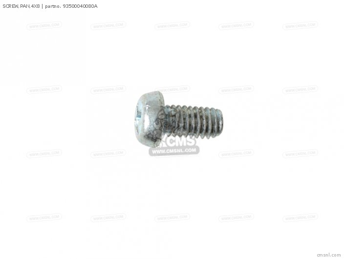SCREW,PAN,4X8