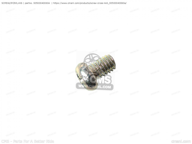 screw cross 4x6 cb900c 900 custom 1980  a  usa 93500040060a