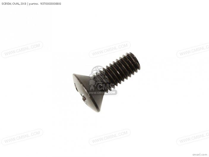 Screw, Oval, 3x8 photo
