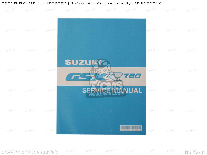 suzuki gsx r 750 service manual