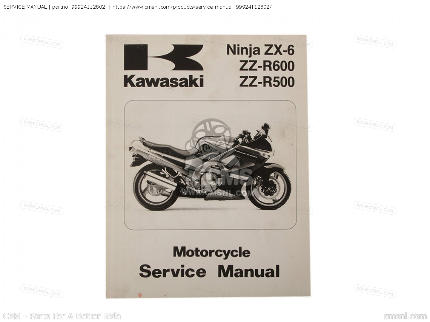 99924112802 service manual kawasaki buy the 99924 1128 02 at cmsnl rh cmsnl  com 2017 Kawasaki ZZR600 Kawasaki Ninja