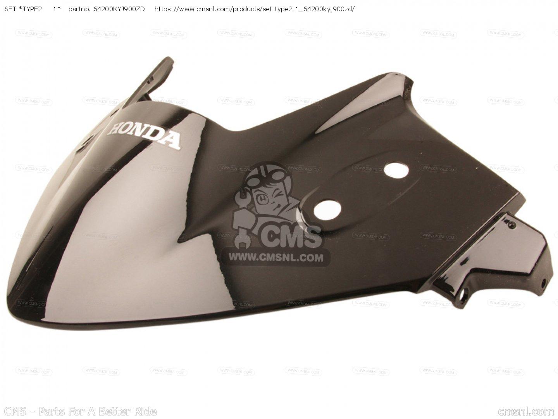TYPE1 FR. HONDA 64200-KYJ-900ZB COWL