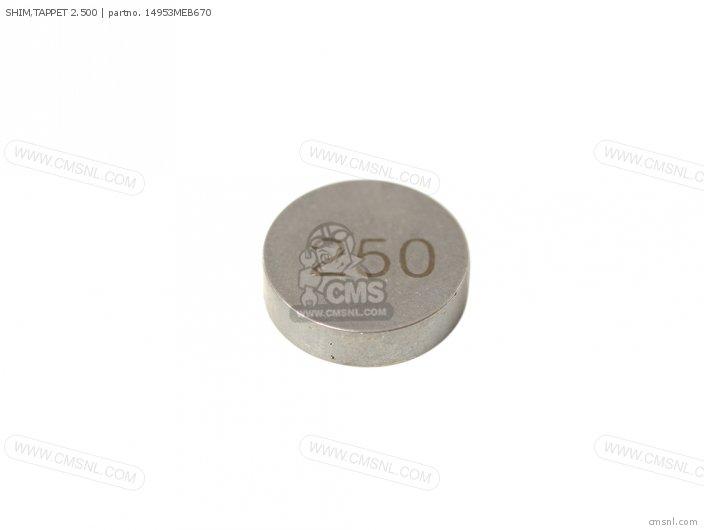 SHIM, TAPPET 2.500