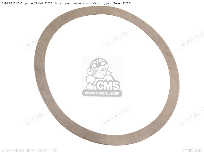 Yamaha 22U-46117-00-25 Shim Ring Gear; 22U461170025 Made by Yamaha