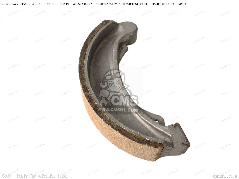Brake Shoe Web : P shoe front brake o e alternative honda