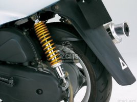 SHORT REAR SHOCK GOLD CYGNUS X
