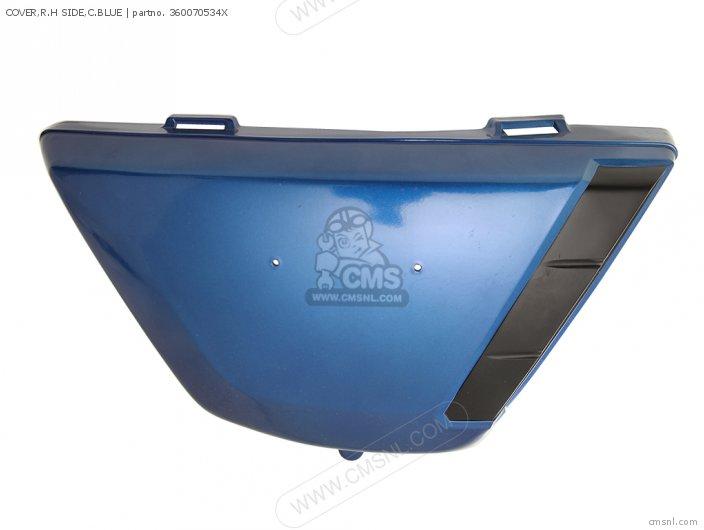 1976 KZ400-D3 SIDE COVER RH CANDY ORIENT BLUE