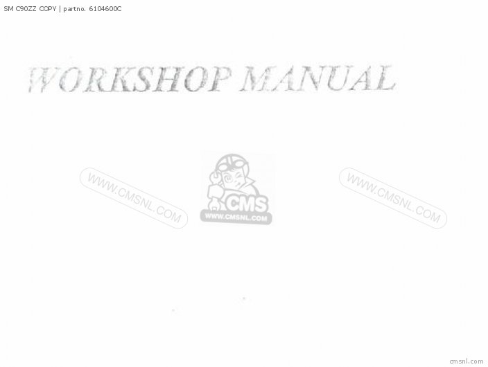 Shop Manuals Sm C90zz Copy