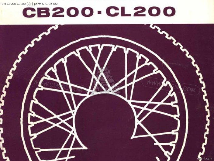 Shop Manuals Sm Cb200 cl200 e
