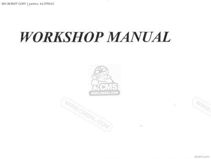 Shop Manuals Sm Cb500t Copy