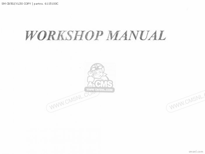 Shop Manuals Sm Cb50j xl50 Copy