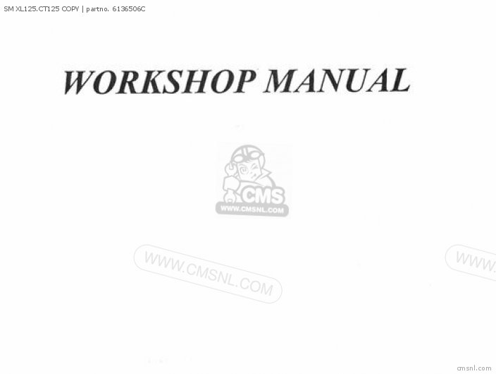 Shop Manuals Sm Xl125 ct125 Copy