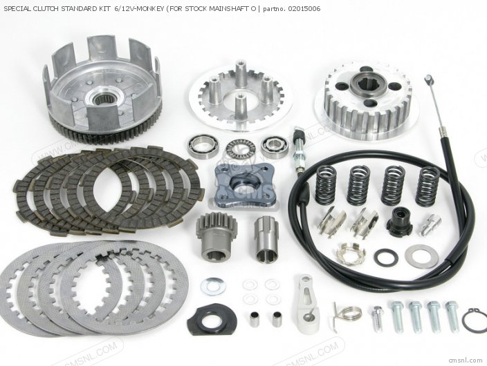 SPECIAL CLUTCH STANDARD KIT  6 12V-MONKEY FOR STOCK MAINSHAFT O